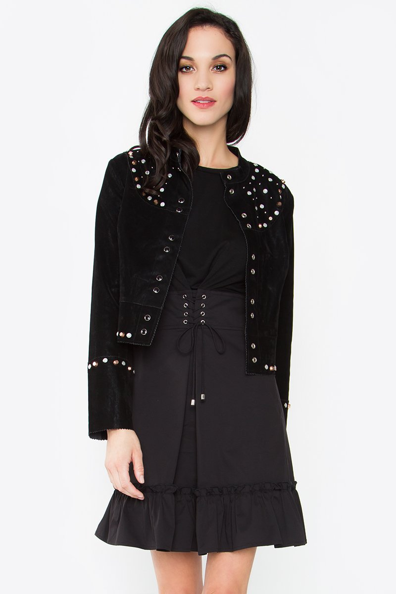 studs sale stud jacket saint leather laurent yves moto zoom heart blouson