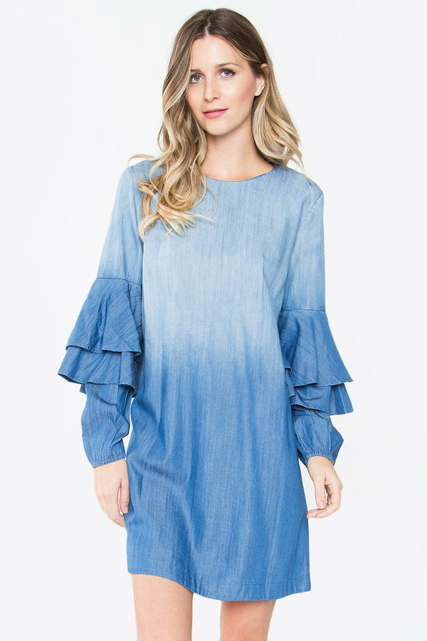 Keisha Denim Shift Dress
