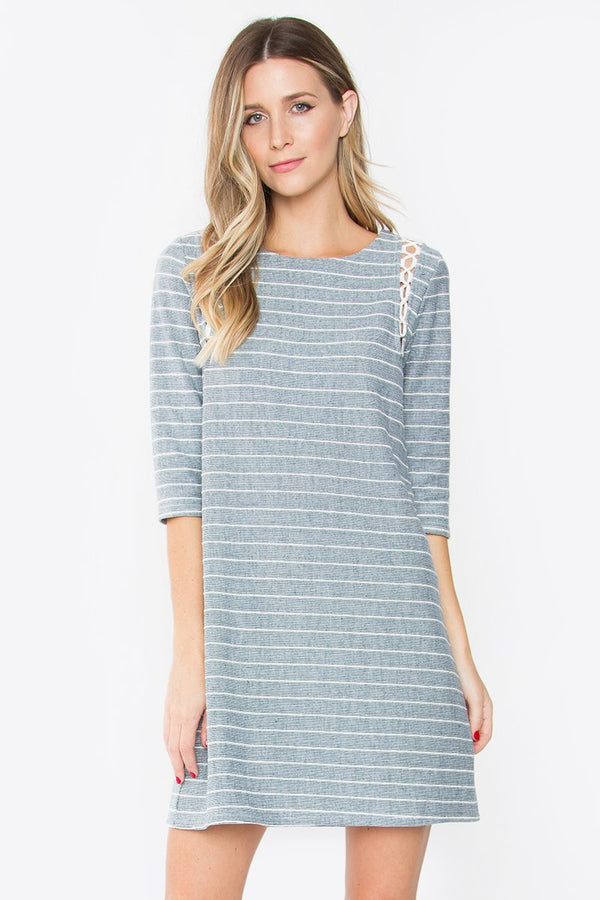 Corah Striped Knit Dress