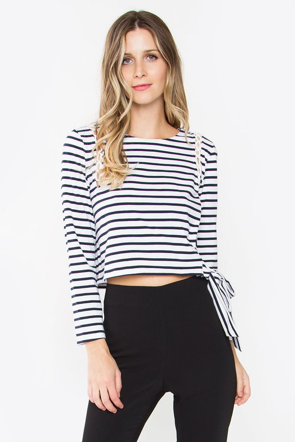 Corah Striped Long Sleeve Top