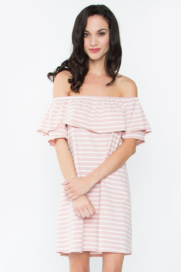 Roseanne Off The Shoulder Dress