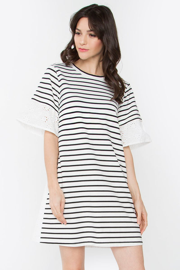 Carrson Striped Knit Dress