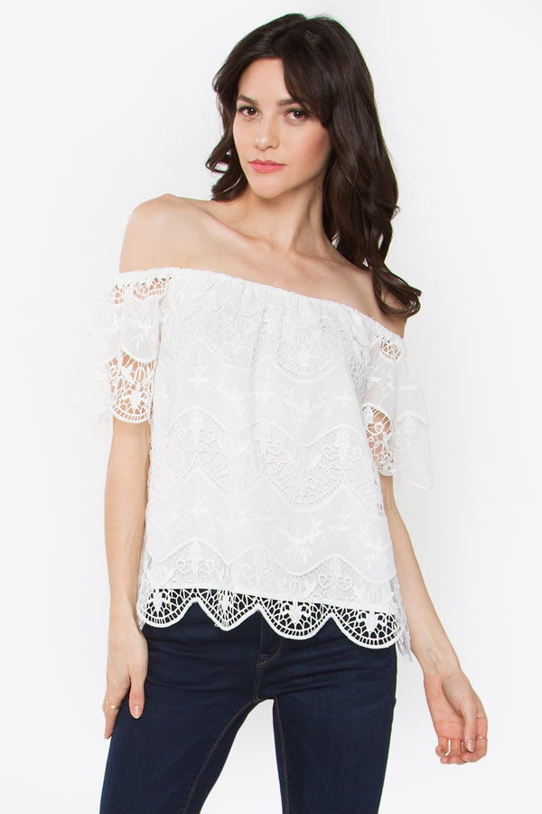 Rosalie Lace Off the Shoulder Top