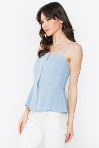 Dakota Open Shoulder Denim Top
