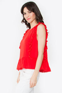 Nova Ruffled Peplum Top