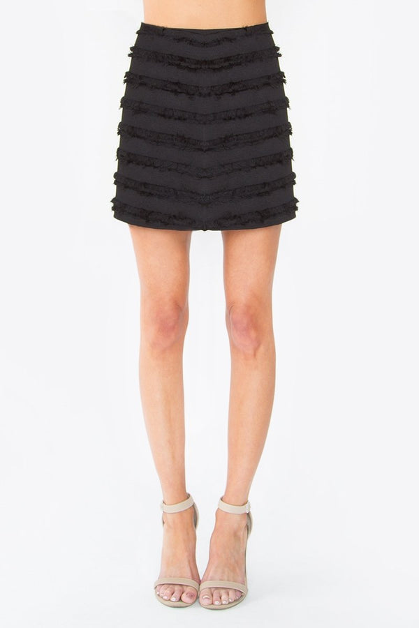 Melina Fringe Mini Skirt