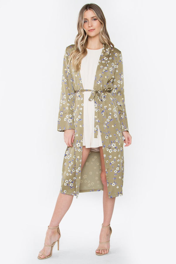 Take Me Higher Floral Duster Coat