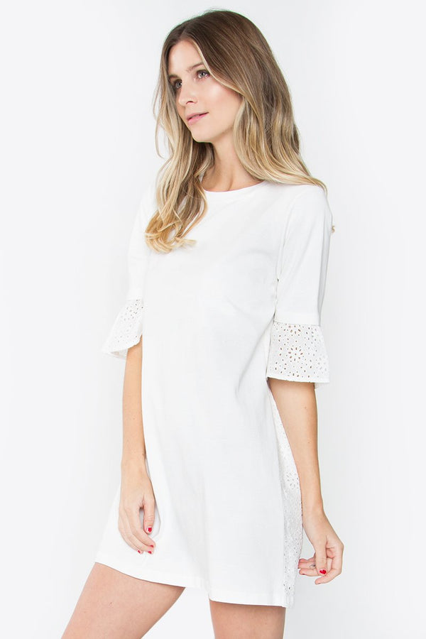 Carrson White Knit Dress
