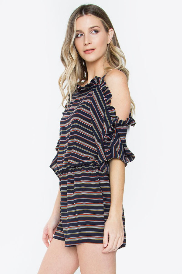 Lindsey Striped Romper