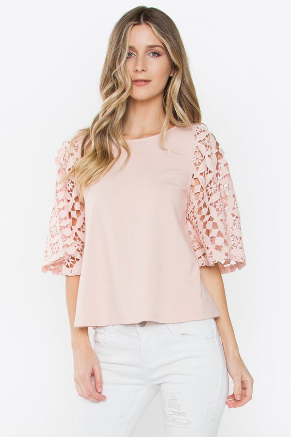 Accordion Lace Top