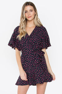Emmie Ruffled Wrap Dress