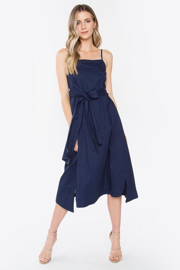Jardin Navy Midi Dress
