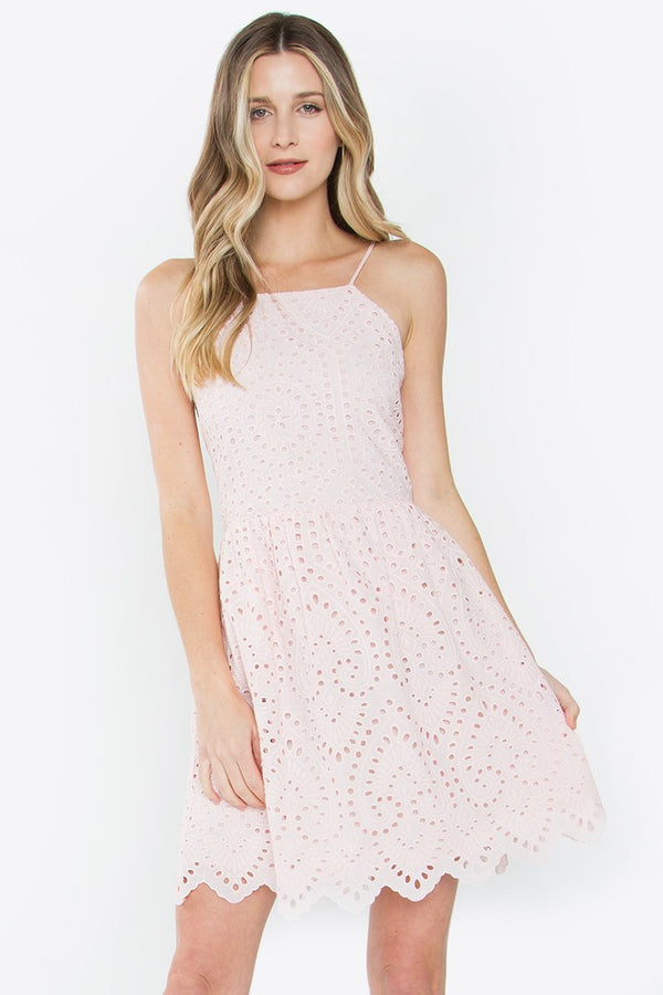 Angelina Eyelet Dress