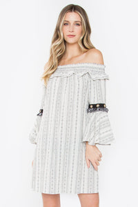 Xena's Off The Shoulder Dress