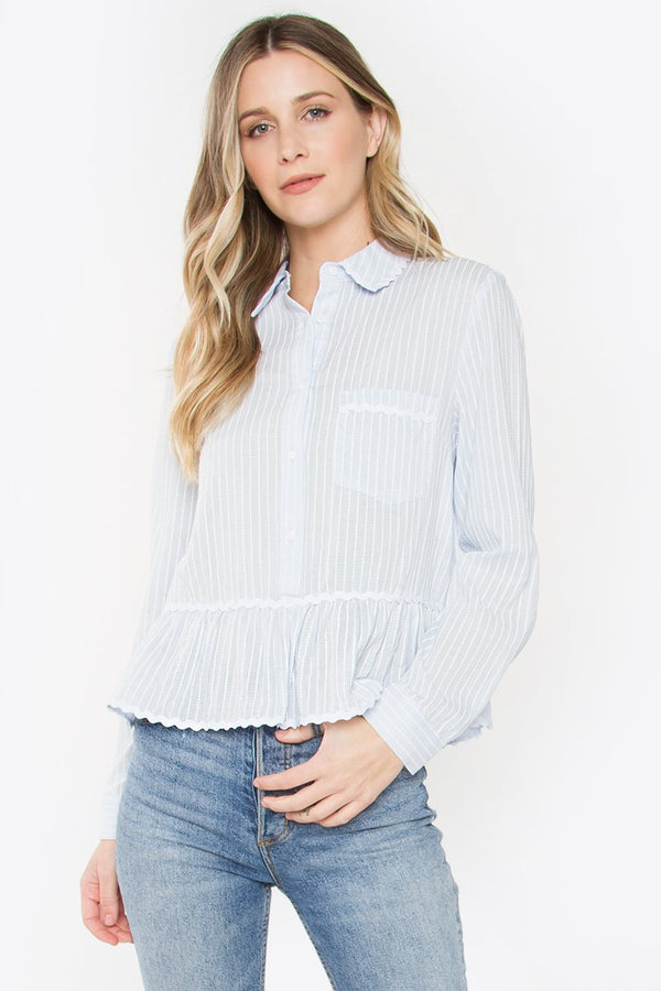 Stella Striped Ruffle Top
