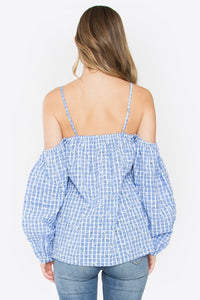 Picnic Cold Shoulder Top