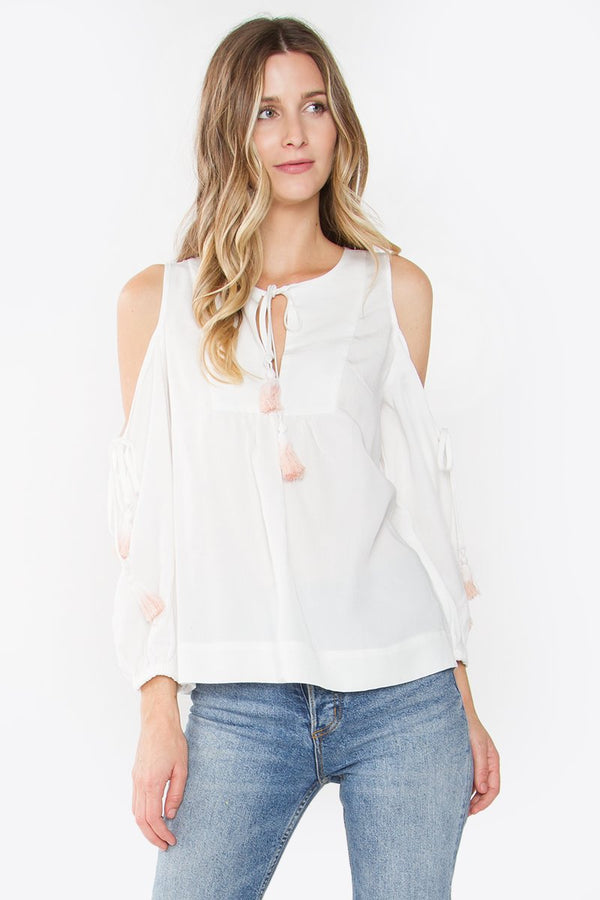 Candonga Cold Shoulder Top