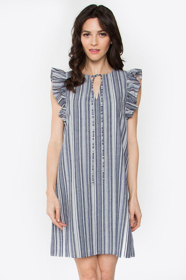 Corsair Ruffle Shift Dress