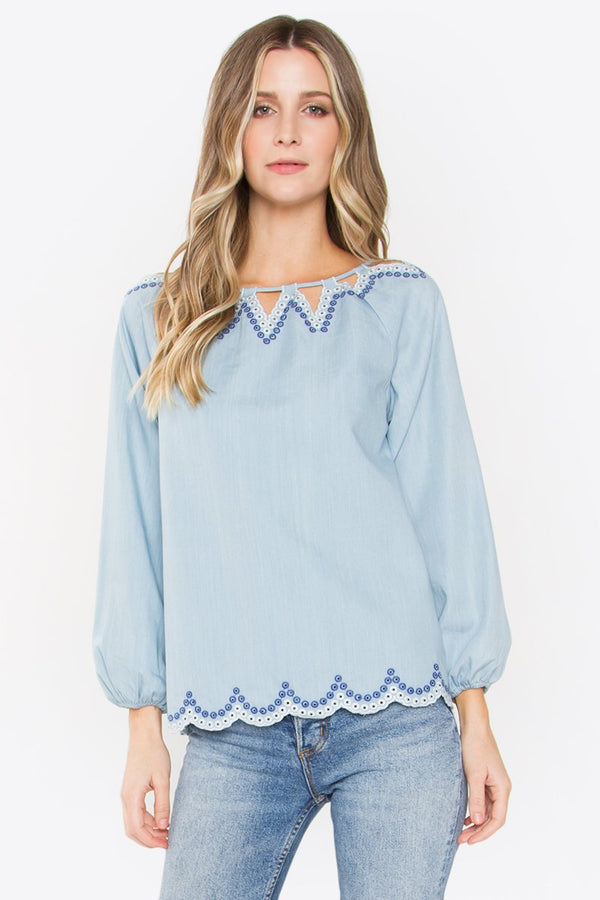 Delight Embroidery Top