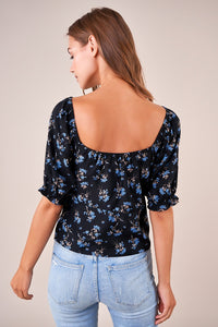 As You Are Floral Puff Sleeve Top