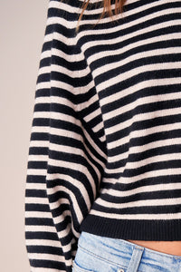 Walden Striped Oversized Sleeve Sweater