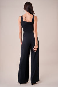 Pin Up Notch Square Neck Jumpsuit
