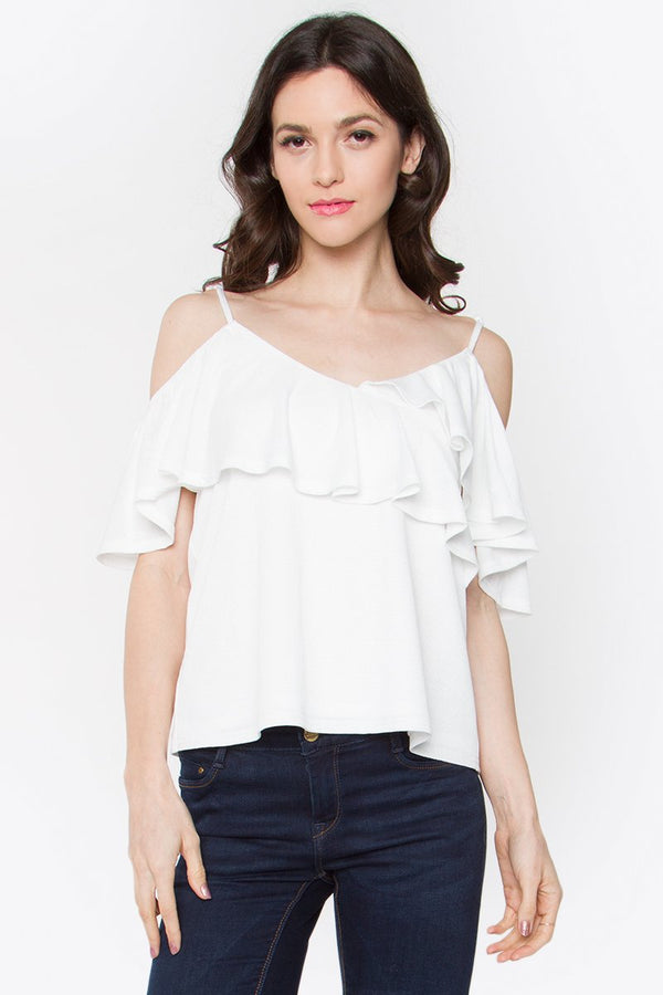 Deanna Cold Shoulder Top