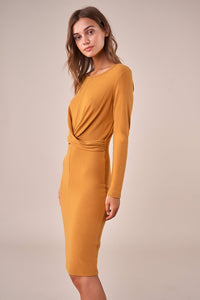 Goldie Twist Front Midi Dress