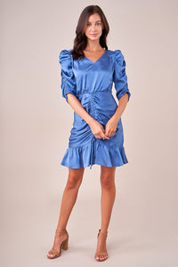 Gone Gal Ruched Ruffle Dress