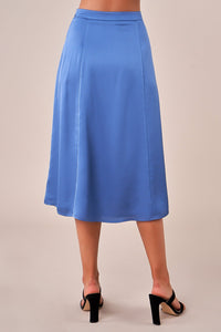 Azul Satin Midi Skirt