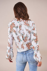 Sahara Floral Ruched Blouse