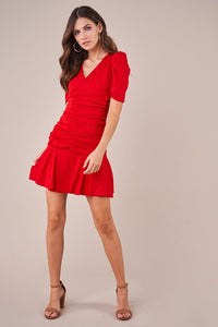 Cha Cha Ruched Mini Dress