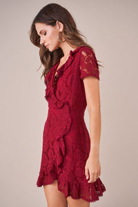 Alora Lace Wrap Dress