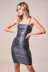 Roxbury Metallic Ruched Bodycon Mini Dress