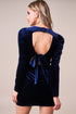Turn Around Velvet Open Back Mini Dress