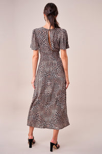 Dance The Night Away Leopard Midi Dress