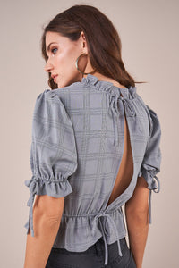 Timeless Plaid Peplum Top