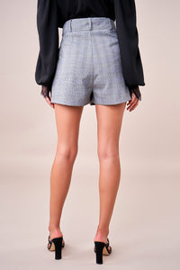 CEO Pleated Plaid Shorts