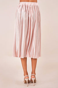 Stay Golden Plisse Midi Skirt