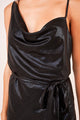 Mystical Moment Asymmetrical Cowl Neck Slip Dress