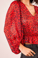 Wild Ways Leopard Print Balloon Sleeve Blouse