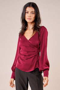 Angelina Overlapped Surplice Blouse