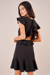 Strike A Pose Open Back Ruffle Dress