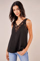 Cassa Mixed Lace Sleeveless Blouse