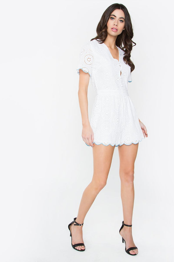 Poetic Button Up Romper