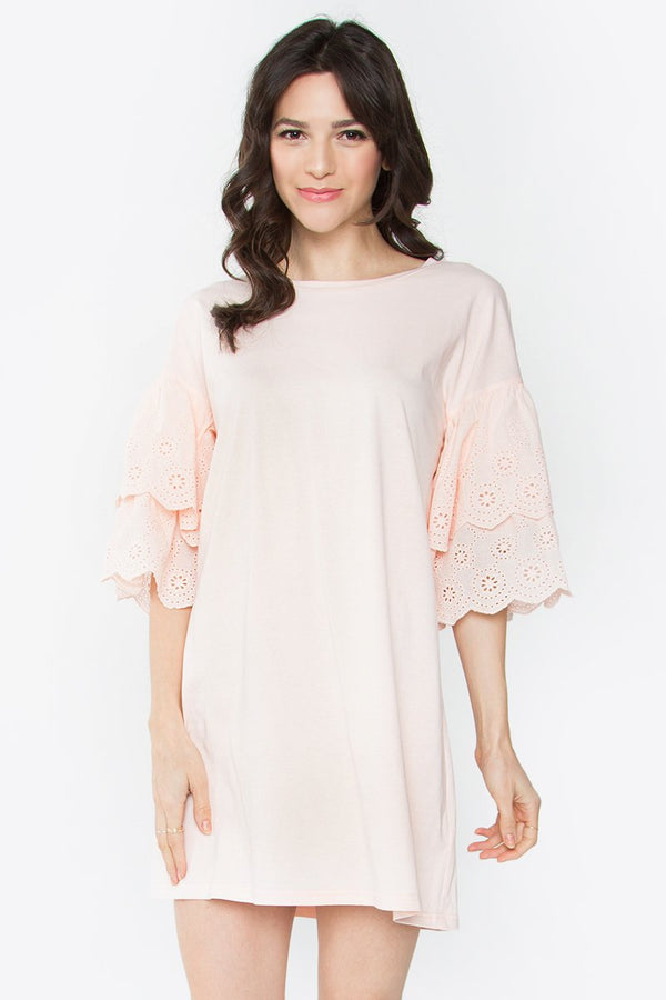 Caspian Eyelet Shift Dress