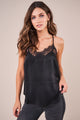 True Colors Satin Lace Trim Cami