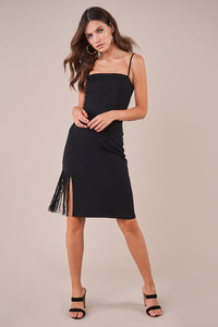 Paulina Bodycon Fringe Dress