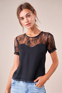 Romance Forever Mixed Lace Top