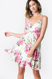 Be Sweet Florals Ruffle Dress